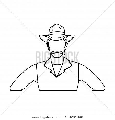 cowboy man cartoon character, modern western cattle hurdlers in traditional cowboy outfit. vector illustration