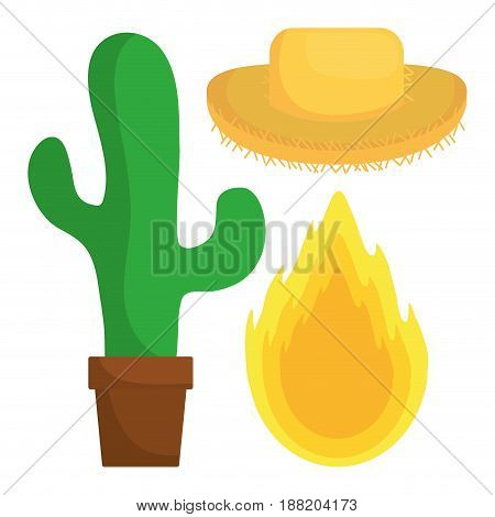 festa junina related icon over white background. colorful design. vector illustration