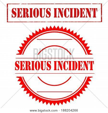 Set of stamps with text Serious Incident,vector illustration