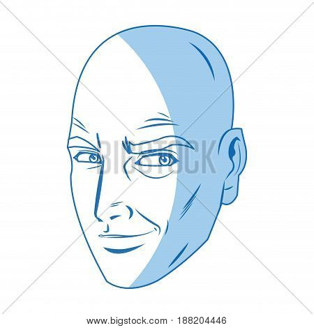 character man face comic pop art vector illustration