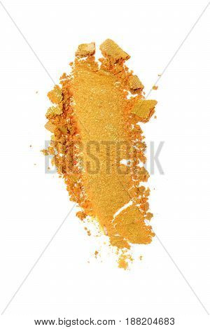 Smear Of Crushed Orange Eyeshadow As Sample Of Cosmetic Product