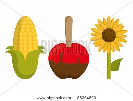 festa junina related icons over white background. colorful design. vector illustration