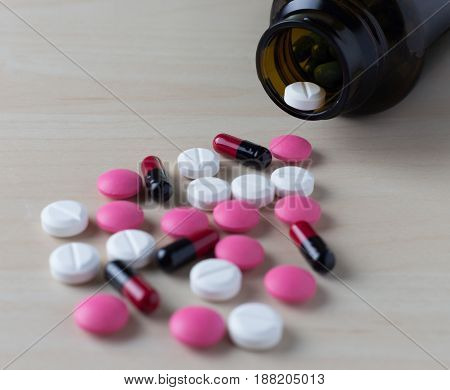 Doctor  Work On Tablets Color Mix Therapy Antibiotic Pharmacy Medicine Medical Drug Prescription For