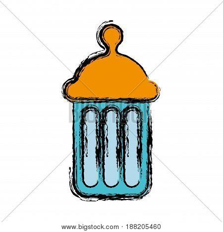 baby bottle icon over white background. vector illustration