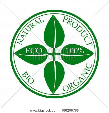 Eco food, organic bio product eco friendly badge vegan icon ecology. Set of vector green nature logo design element badge label and ecology logotype template environment plant energy sticker.