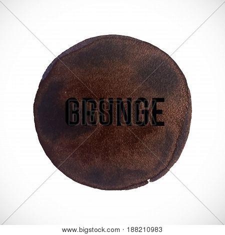 Vector grunge abstract background. Ink round texture. Vector design elements. Dark smear background.