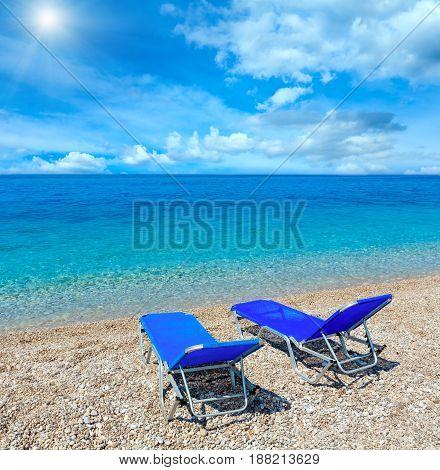 Summer Morning Sunshiny Beach.