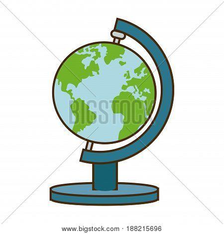 school globe atlas map geography vector illustration