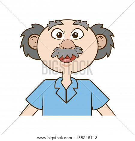 scientist old professor. education chemistry study vector illustration