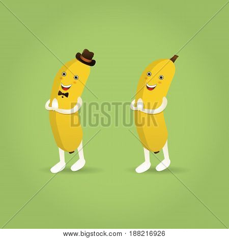 Vector Illustration of Mascot Cartoon banana character