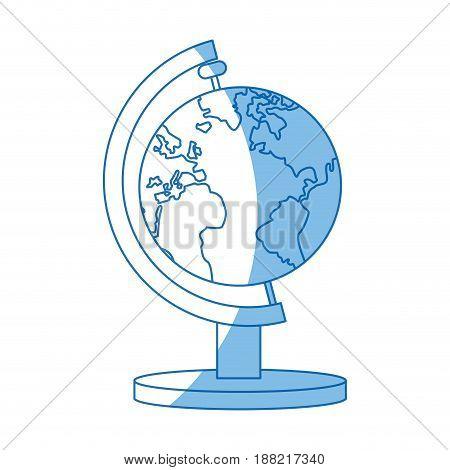 globe map earth world atlas icon vector illustration