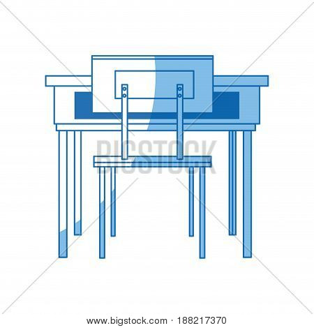 school table and chair furniture class vector illustration