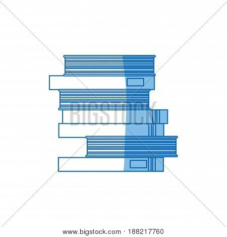 school pile books study education image vector illustration