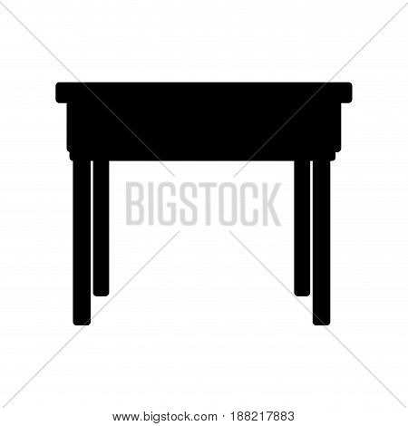 school desk wooden table. office furniture vector illustration