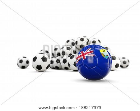 Football With Flag Of Saint Helena Isolated On White