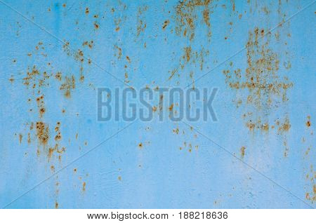 Texture Of Vintage Painted Blue Iron Wall Background With Many Layers Of Paint
