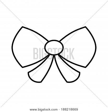 decorative bow icon over white background. vector illustration