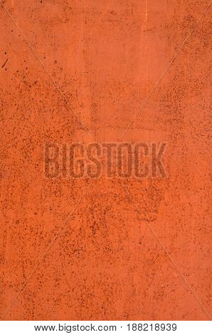 Texture Of Vintage Painted Orange Iron Wall Background With Many Layers Of Paint