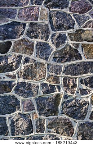 Old Stone Vertical Wall Rustic Texture Background