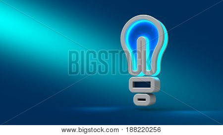 Concept Of Successful Idea Inspired By Bulb Shape On Blue Background.