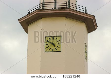 Old City Hall Clock Tower against sky background