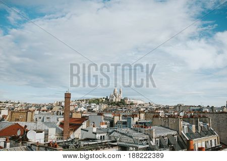 Roofs of Paris with Montmartre and Basilica of the Sacred Heart