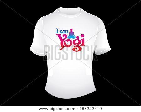 creative i am yogi tshirt vector illustration