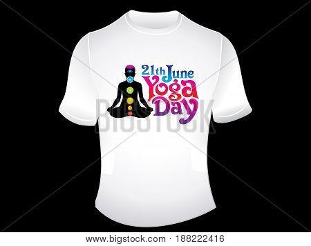 artistic creative yoga day tshirt vector illustration