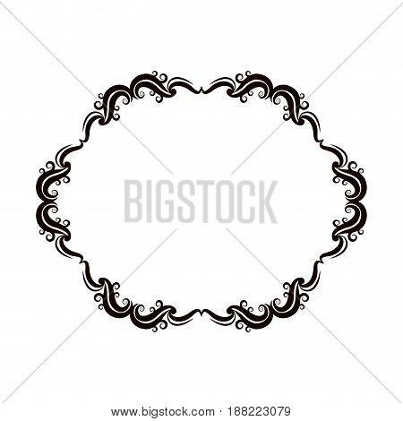 vintage baroque frame scroll floral ornament border retro pattern antique style swirl decorative design vector illustration