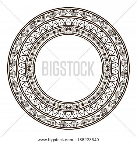 round frame and decorative vintage design element vector illustration