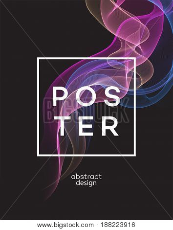 Abstract smoky waves background. Template brochure jh poster design. Vector illustration EPS10