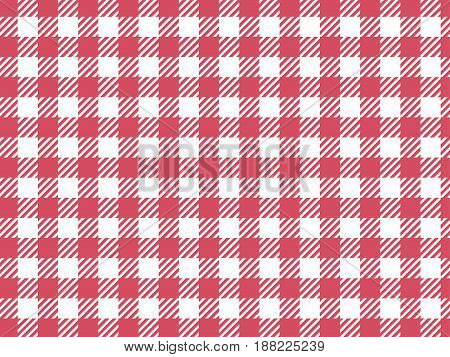 Vector background checkered vichy pattern. Trendy pink color.
