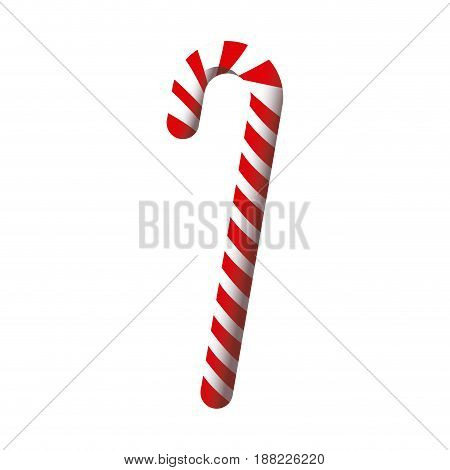 red and white stick christmas decoration vector illustration
