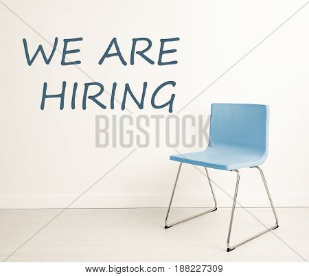 Empty chairs - recruitment. Looking for new employees.