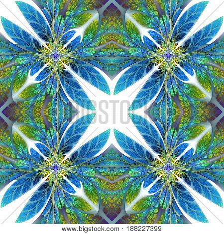 Symmetrical pattern of the leaves. You can use it for invitations notebook covers phone case postcards cards wallpapers and so on. Artwork for creative design art and entertainment.