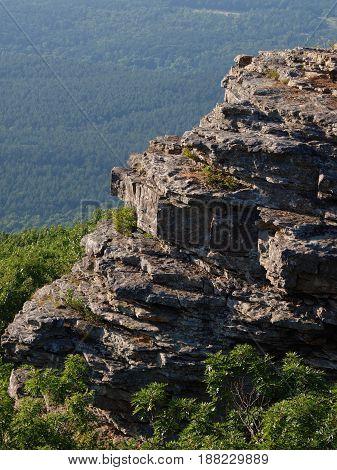 Mount Magazine Arkansas Vista over looking Cliff
