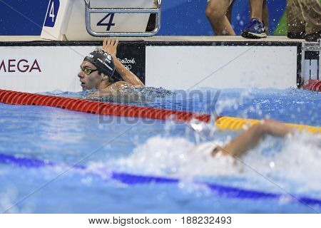 Rio de Janeiro Brazil - august 13 2016: PALTRINIERI Gregorio (ITA) during men's 1500 metre swimming freestyle of the Rio 2016 Olympics Games Rio 2016