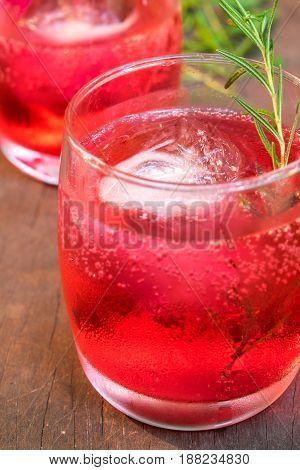Glasses Of Refreshment Raspberry Flavour Fizz