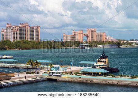 Nassau Bahamas May16th 2017: Alantis Resort and casino in Nassau Bahamas May 16th 2017