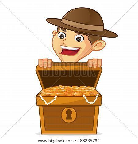 Boy Scout Cartoon Opening Treasure