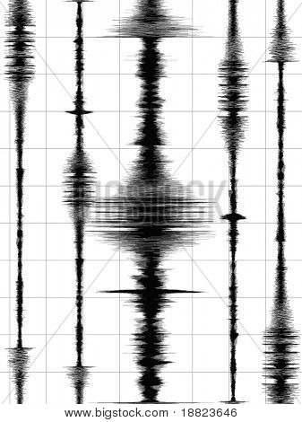 Earthquake waves graph