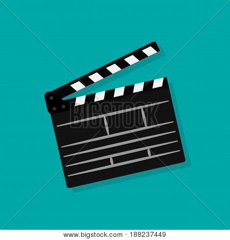 Clapperboard icon. Movie production sign. Video movie clapper equipment. Filmmaking device. Isolated on background. Vector illustration eps 10