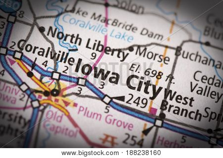 Iowa City On Map