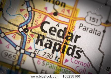 Cedar Rapids On Map