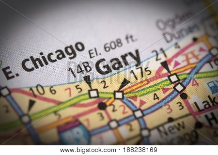 Gary, Indiana On Map