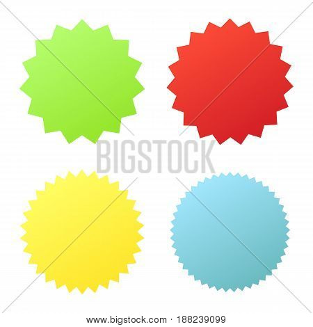 Set sunburst badges. Collection Star label. Different starburst isolated on white background. Vector illustration. Eps 10