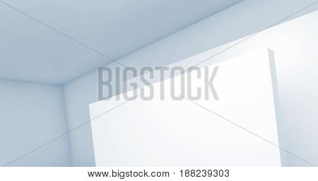 Abstract Empty Blue White Background