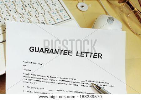 Guarantee Letter
