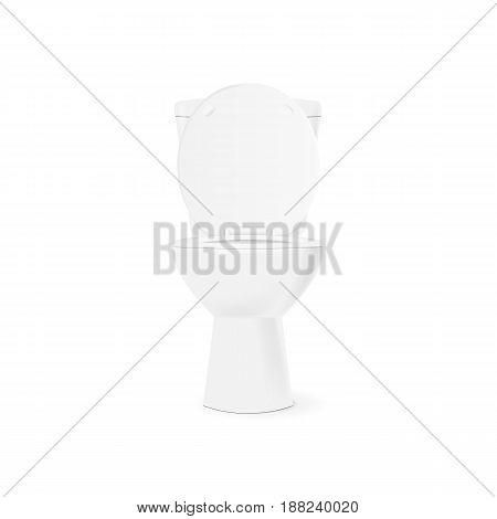 White open toilet bowl Isolated on white background. Vector illustration eps 10