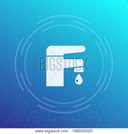 Faucet icon, vector sign, eps 10 file, easy to edit